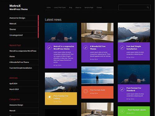 Metro CreativeX WordPress Theme Free | WWW | Pinterest | Themes free ...