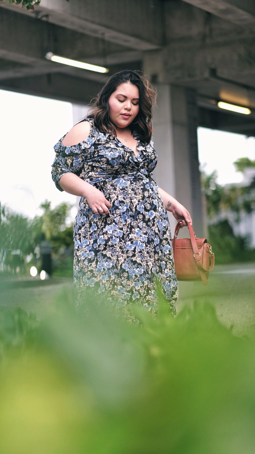84e601be8 Kiyonna Plus Size Floral Barcelona Wrap Dress for Spring | Let's ...