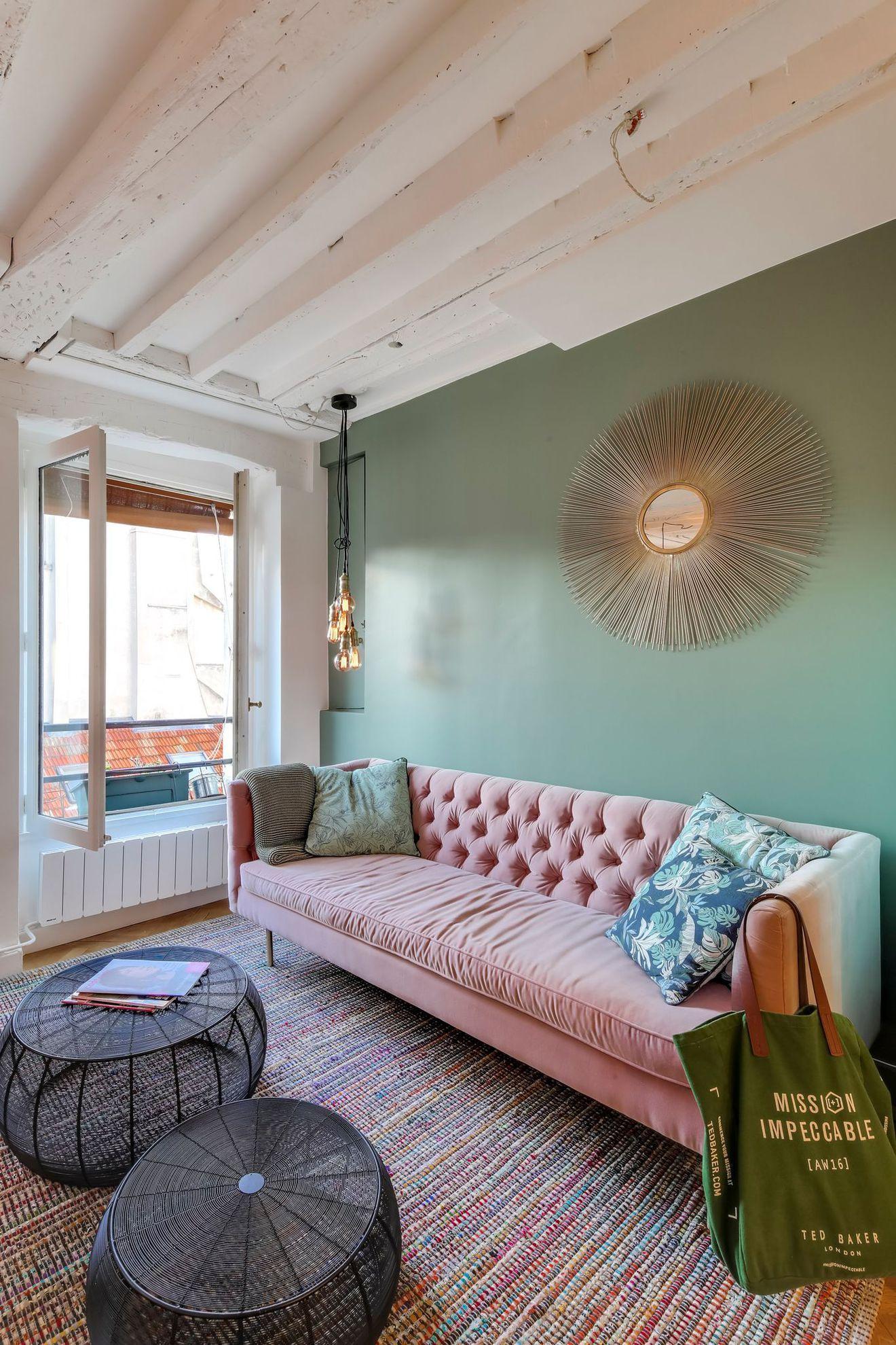 Appartement Paris 17 : 36 m2 ambiance bohème chic