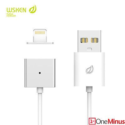 Not recommended! Wsken magnetic Lightning cable. Described as MFI