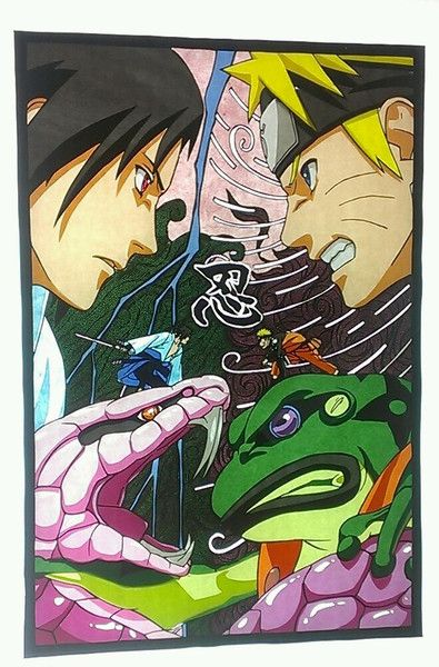 切り絵naruto かへ さんのイラスト Naruto Naruto Sasuke