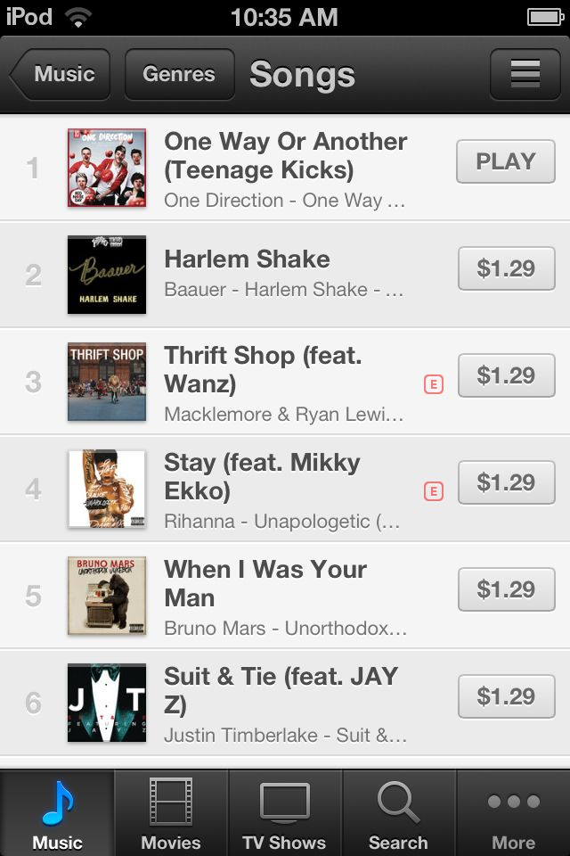 One Way or Another is #1 on iTunes in the US!!!!