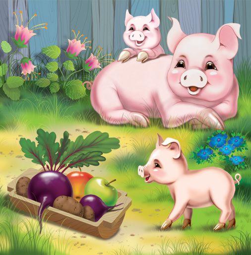 Картинки с животными для детей свинья