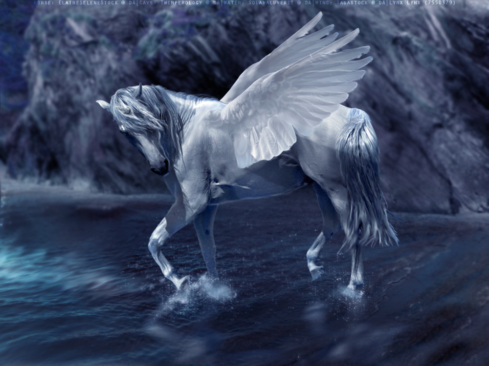 A Pegacorn Is Winged Unicorn The Name Derived By Mixing Terms Pegasus And