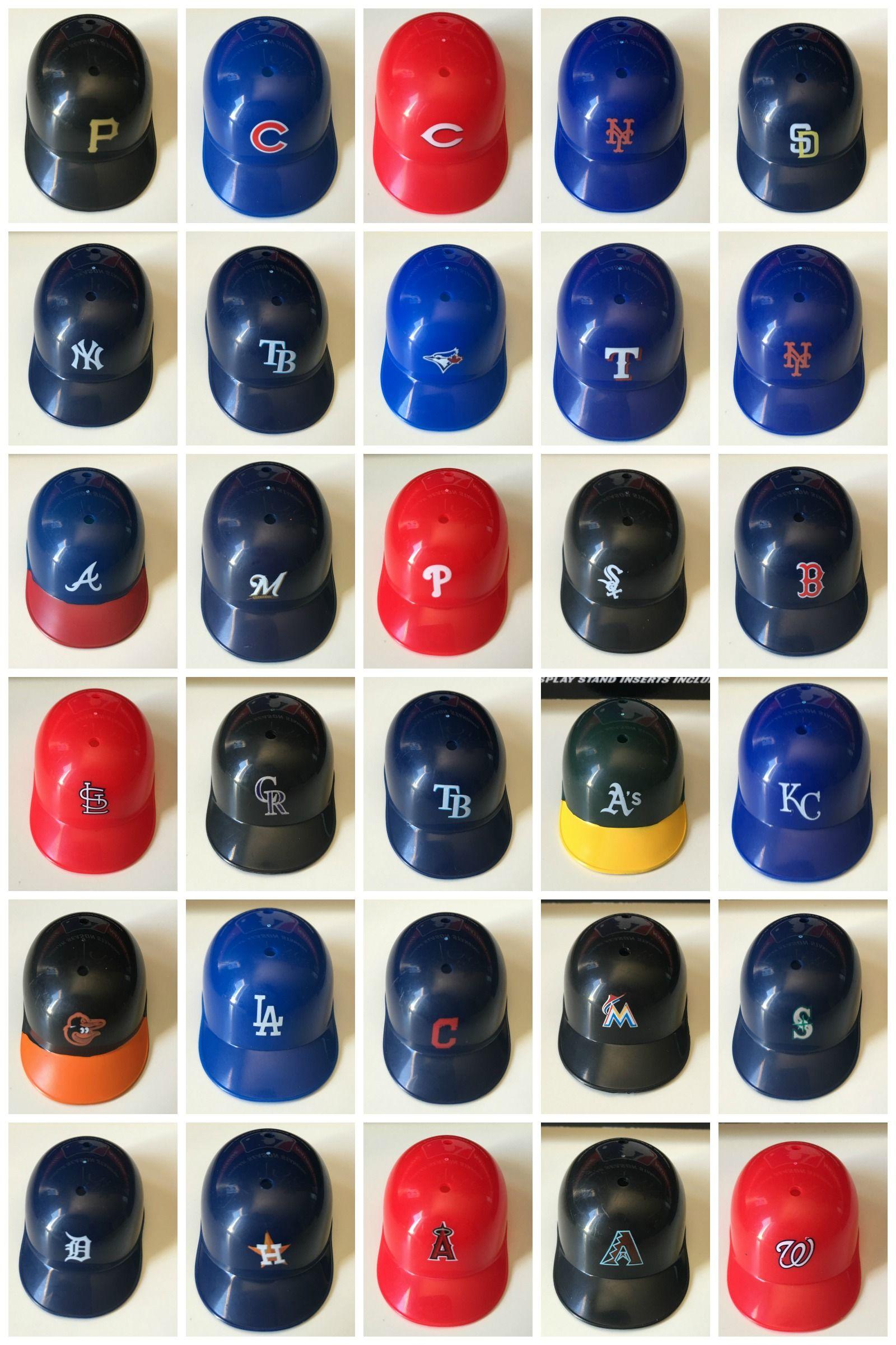 30 Mini Baseball Helmets To Track The Mlb Standings Includes Stand Baseball Helmet Youth Baseball Gloves Mlb Standings