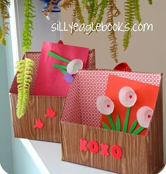 valentine ideas for the office. valentine box made from a recycled cereal boxwas thinking of office paper ideas for the