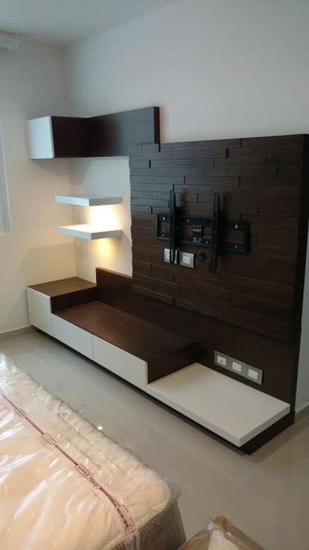 T V Unit Side Veiw Modern Living Room By Ssdecor Modern: Recámaras: Ideas, Diseños E Imágenes