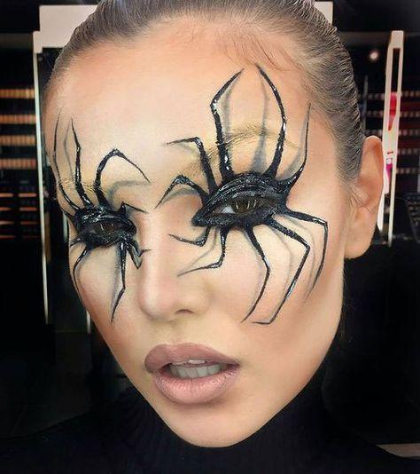 20+ Halloween Augen Make-up Ideen & Looks für Mädchen & Frauen 2018