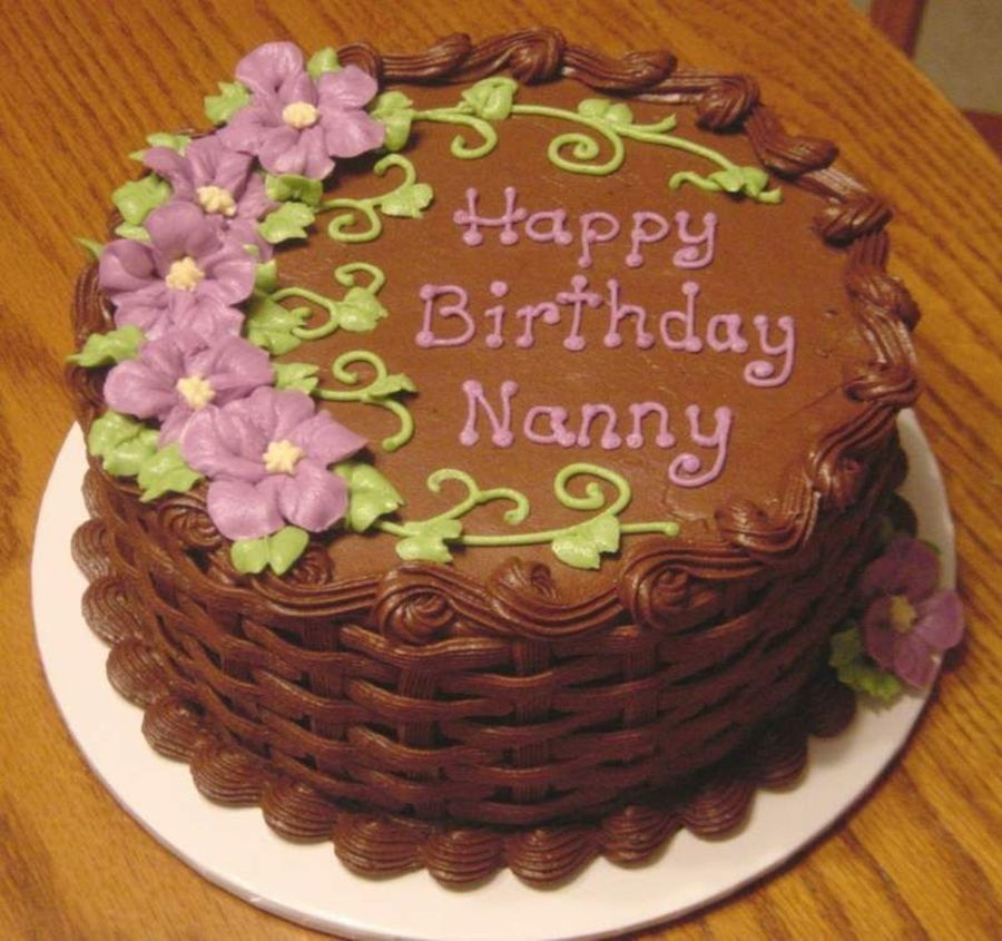 Chocolate Basketweave Cake On Cake Central