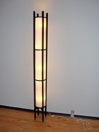 Japanese Inspired Shoji Lamp Floor, Lamp With Shelf Ikea