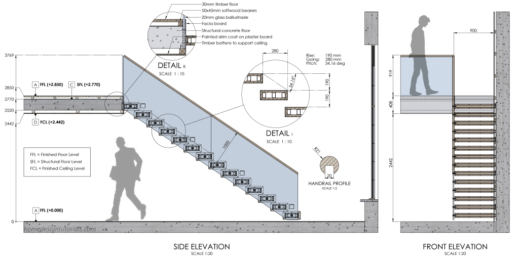 Learn How To Design A Cantilevered Floating Staircase Railing