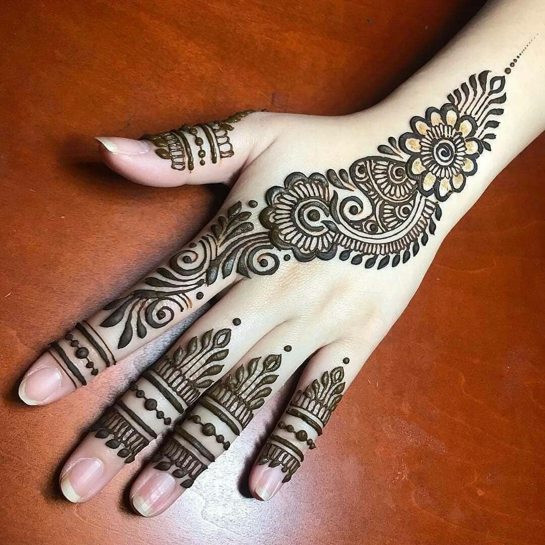 Easy And Simple Mehndi Designs That You Should Try In 2020 Mehndi Designs For Fingers Mehndi Designs For Hands Back Hand Mehndi Designs