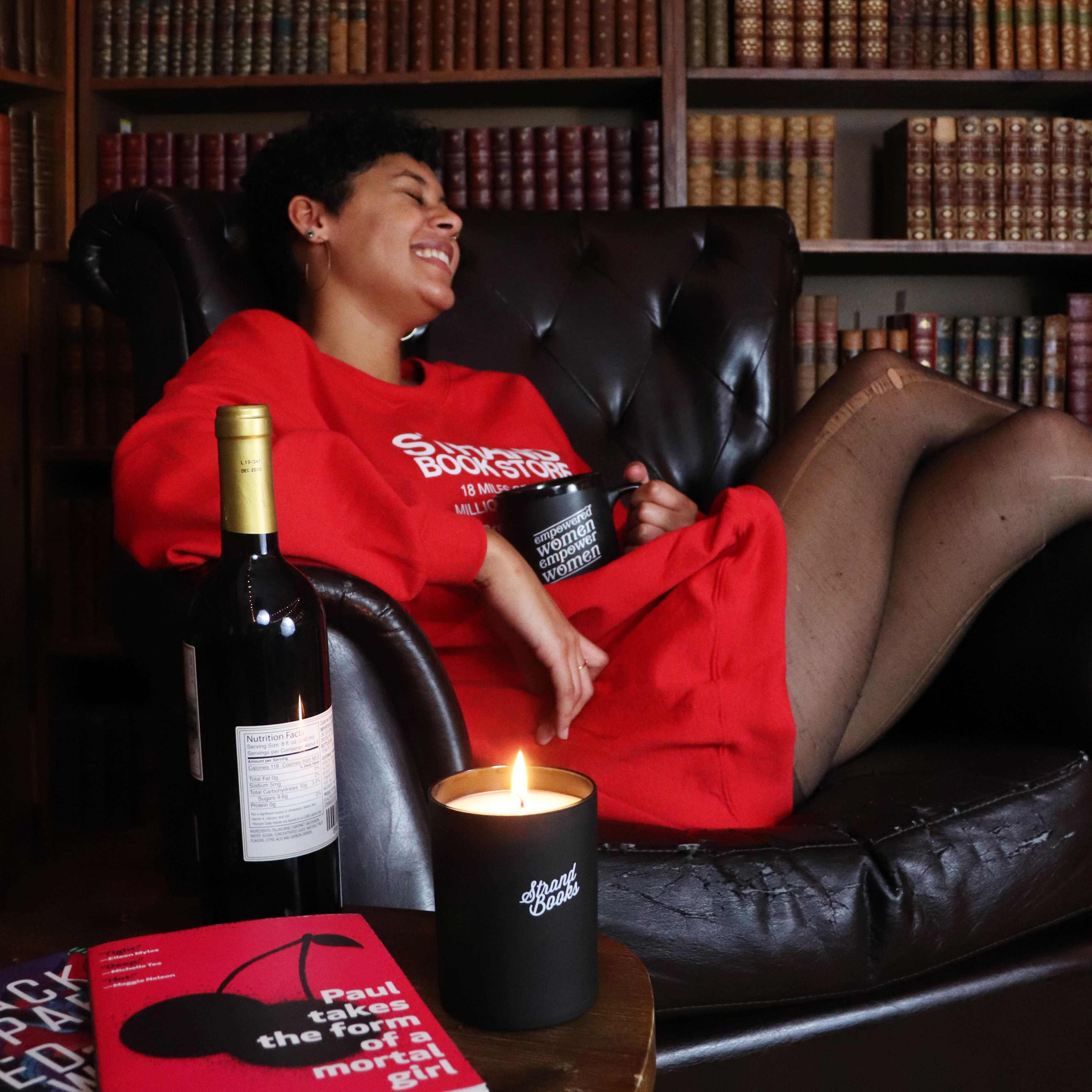 A Perfect Evening With A Good Book Grab Our Vintage Red Sweatshirt For Your Next Chilly Evening In 2020 Red Sweatshirts Private Label Vintage Sweatshirt