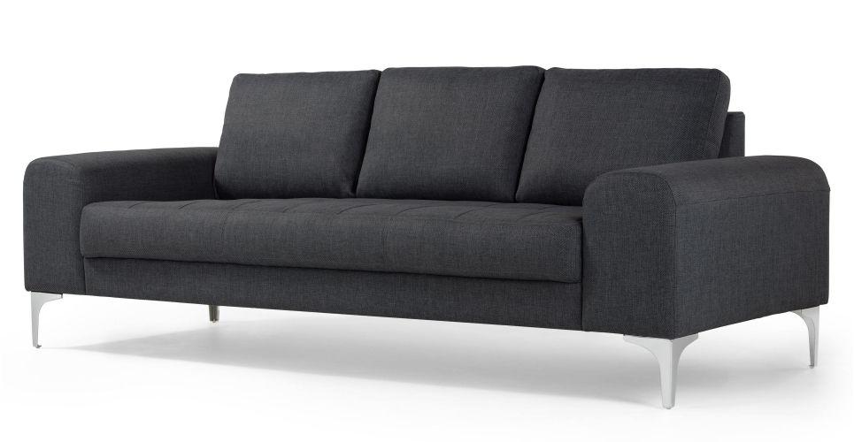 Vittorio 3 Zitsbank In Antracietgrijs Made Com 3 Seater Sofa