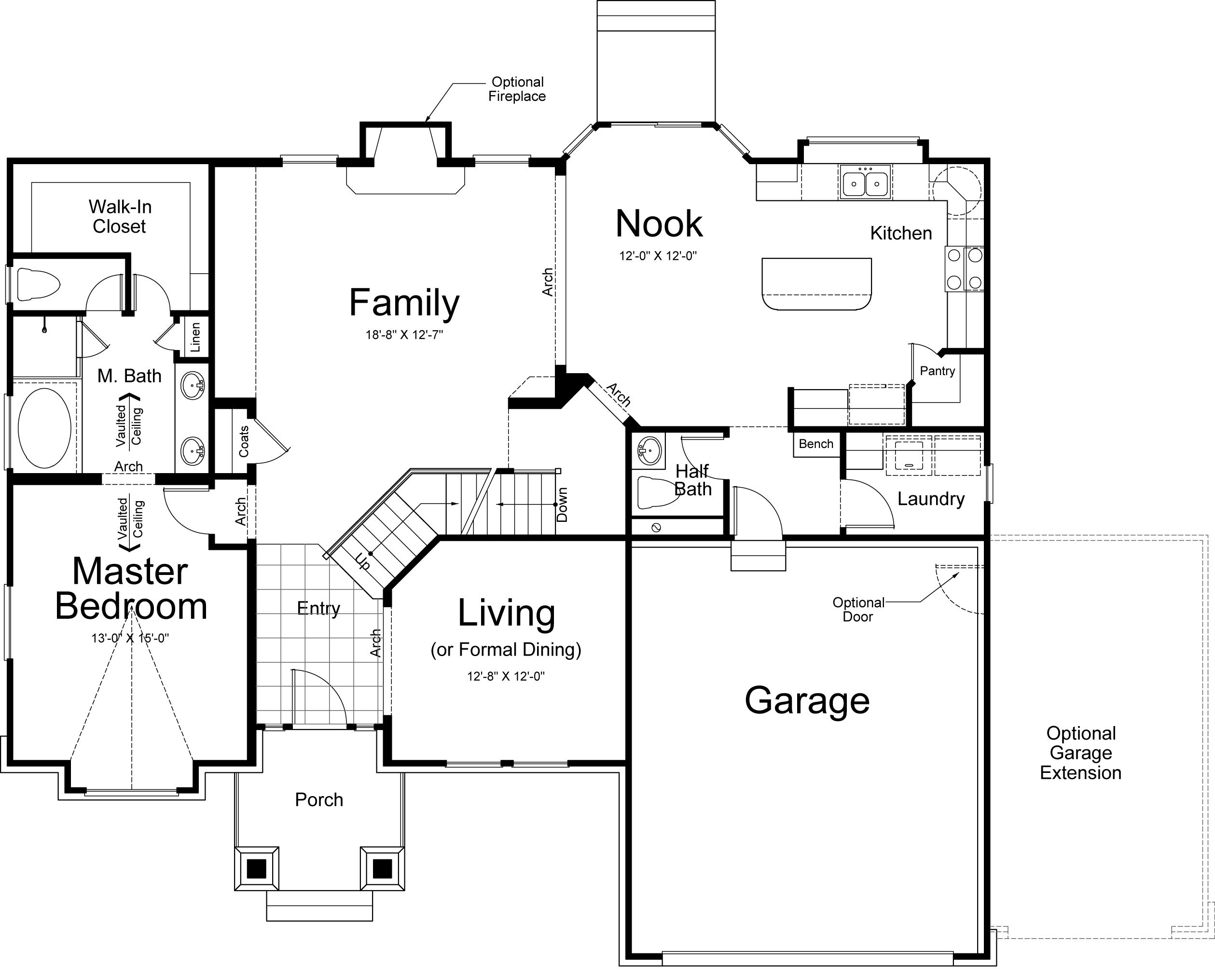 hamilton rustic ivory homes floor plan main level ivory homes
