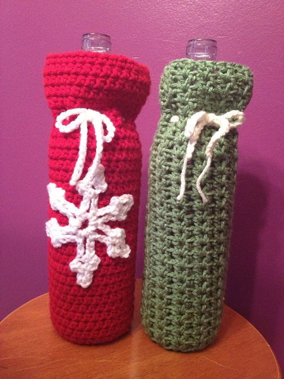 Handmade Crochet Wine Bottle Cover by CreativeDesignsByMel on Etsy, $15.00 each