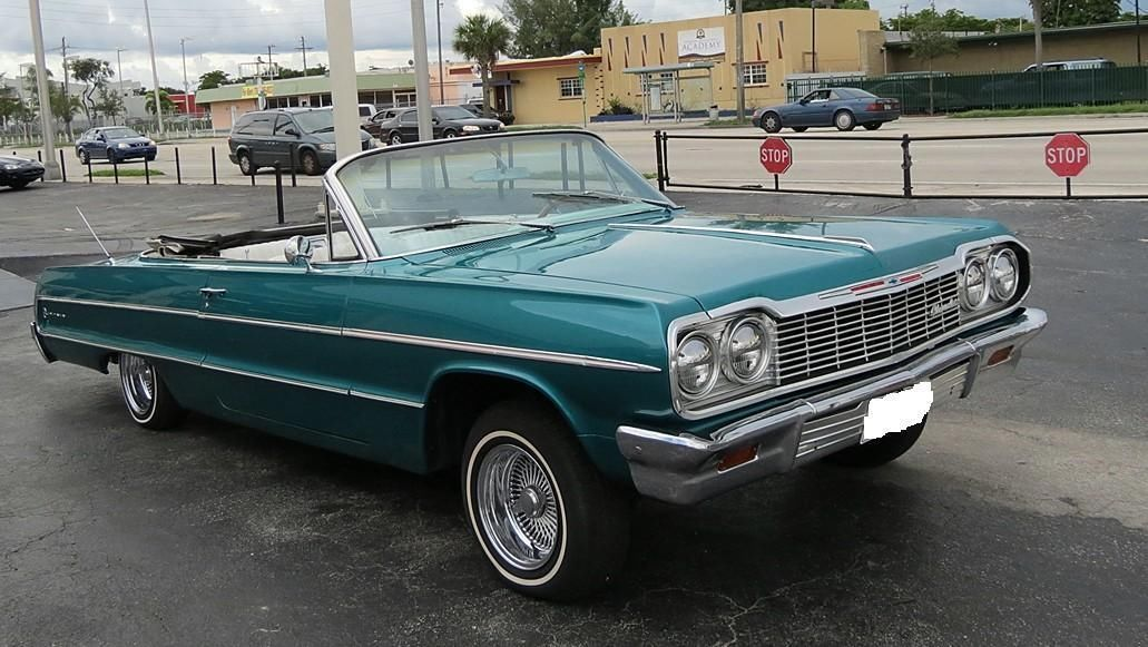 Stunning 1964 Chevrolet Impala Convertible Daytons Hydraulics Tropical Turquoise