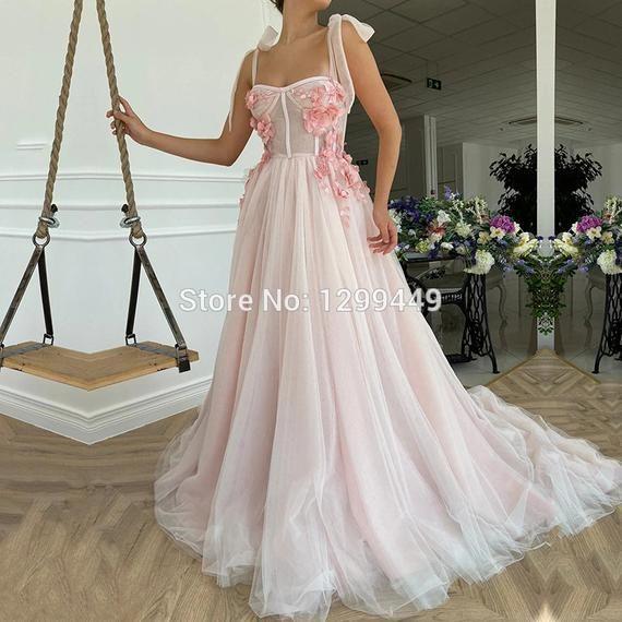 Elopement dress, Evening Dresses Sweetheart Appliq