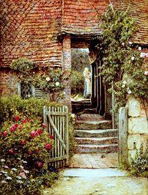 Under the old malt house - Helen Allingham