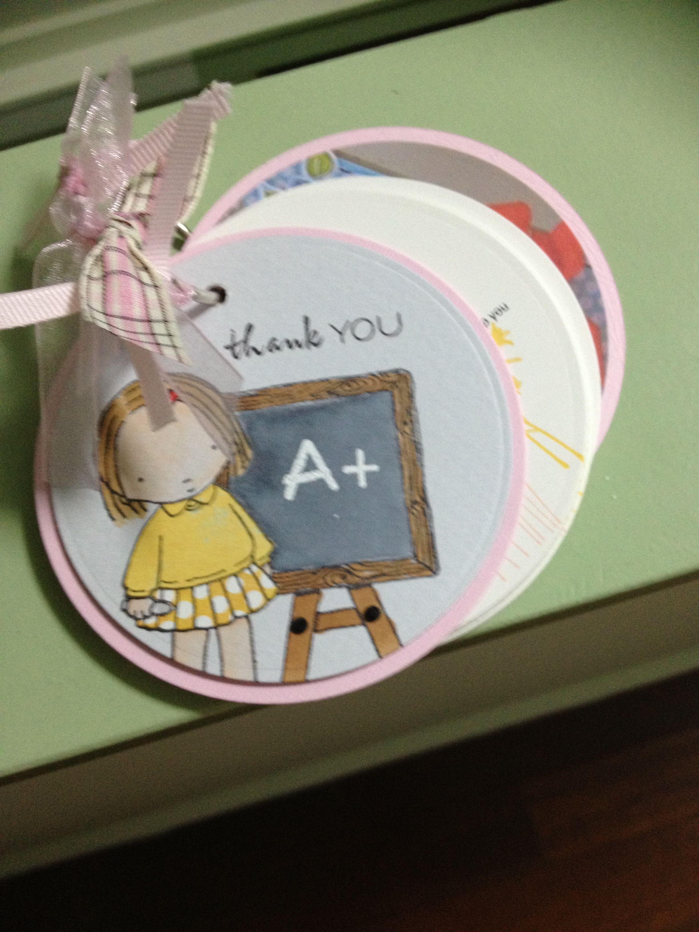 Teacher thank you ring book (card) Paper crafts, Teacher