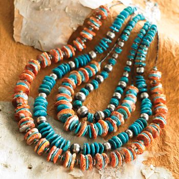turquoise and orange spiney oyster