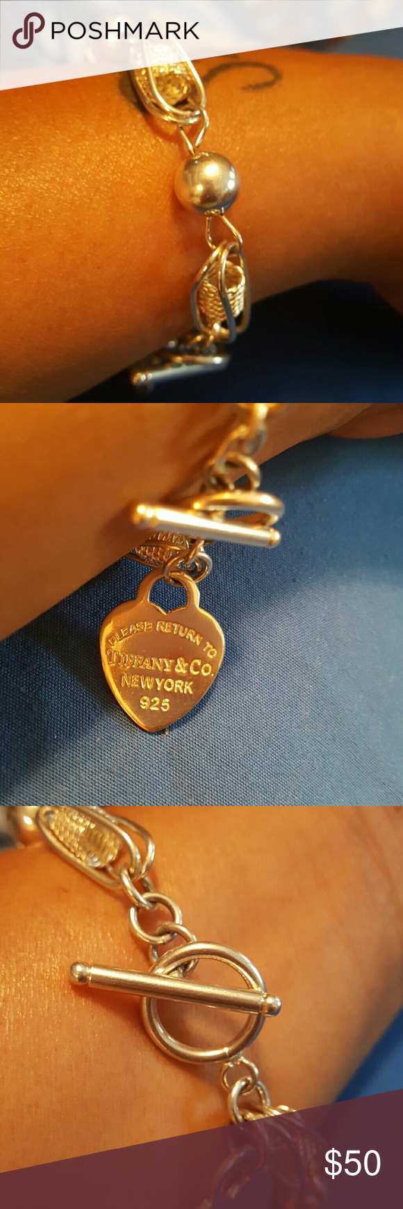 Tiffany bracelet Please read before purchase. Don't know if it's real. Purchased from the pawn shop. Willing to trade. Jewelry Bracelets