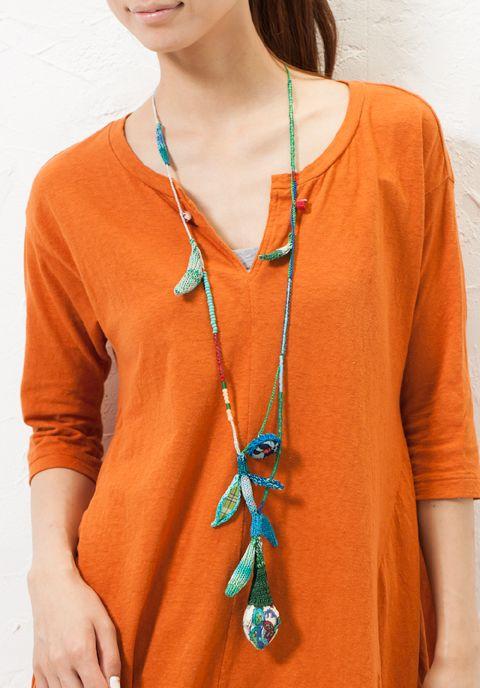 Ayala Bar knit & beads necklace