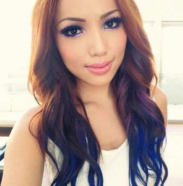 How To Temporary Color Hair Spray Purple Ombre Hair Reverse