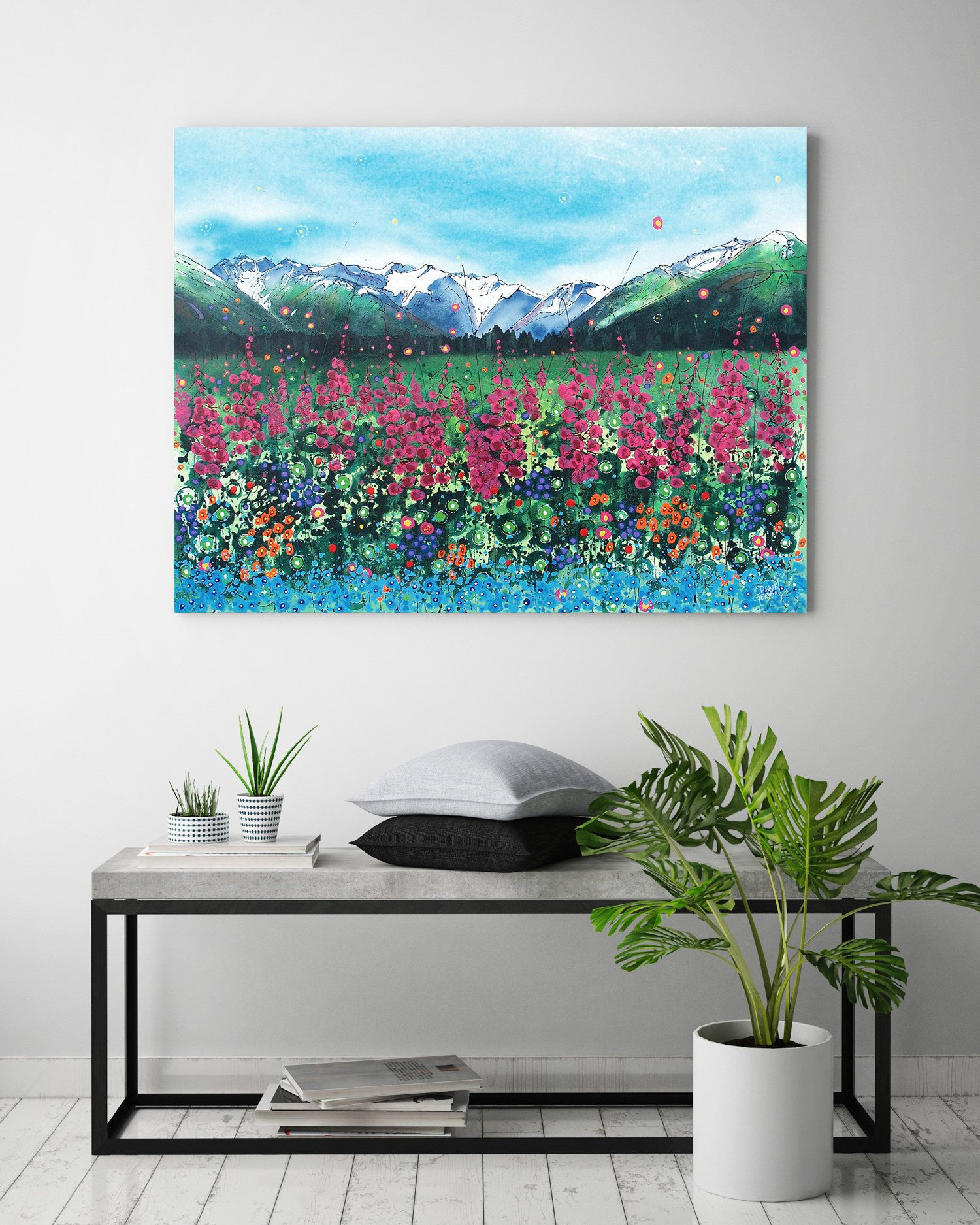 Wildflower Wall Art Top Selling Home Decor Colorful Art Etsy Next Wall Art Colorful Art Art Prints