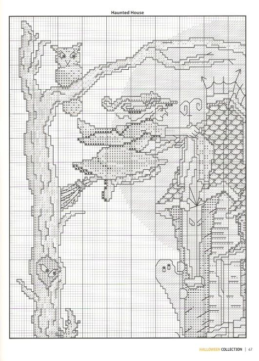 haunted house 4 | cross stitch patterns | Pinterest | Sticken ...