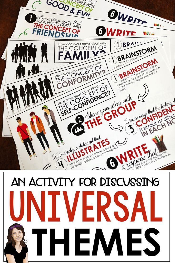 These placemats are perfect for discussions about theme