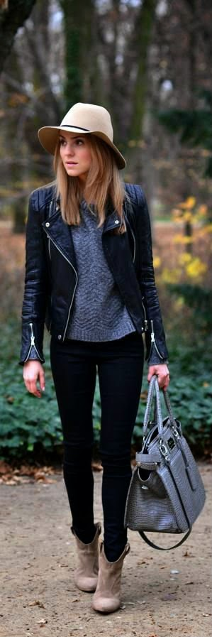 lederjacke herbst leatherjacked pinterest outfit kleidung und outfit ideen. Black Bedroom Furniture Sets. Home Design Ideas
