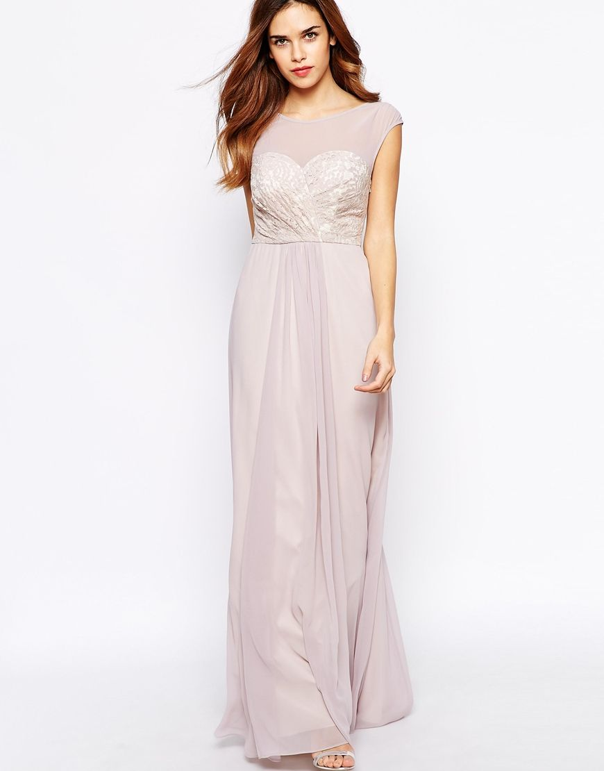 Full length Bridesmaid dress, blush, Sherina May Maxi dress from ...