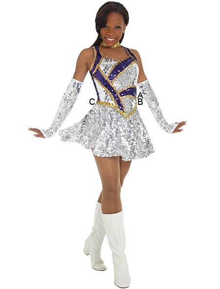 Stunning Demi Dress Cheer Outfits Color Guard Costumes Color Guard Uniforms