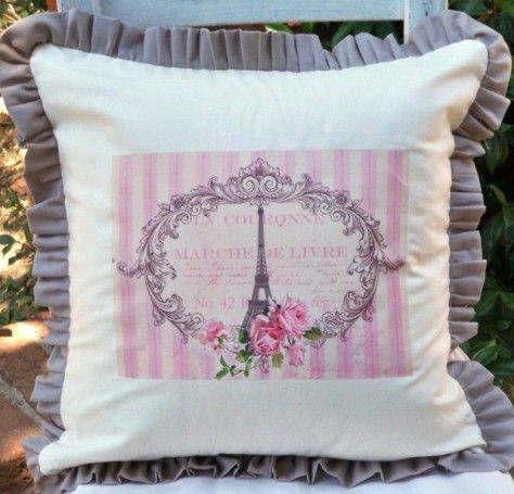 Eiffel Tower Pillow $36-42.00