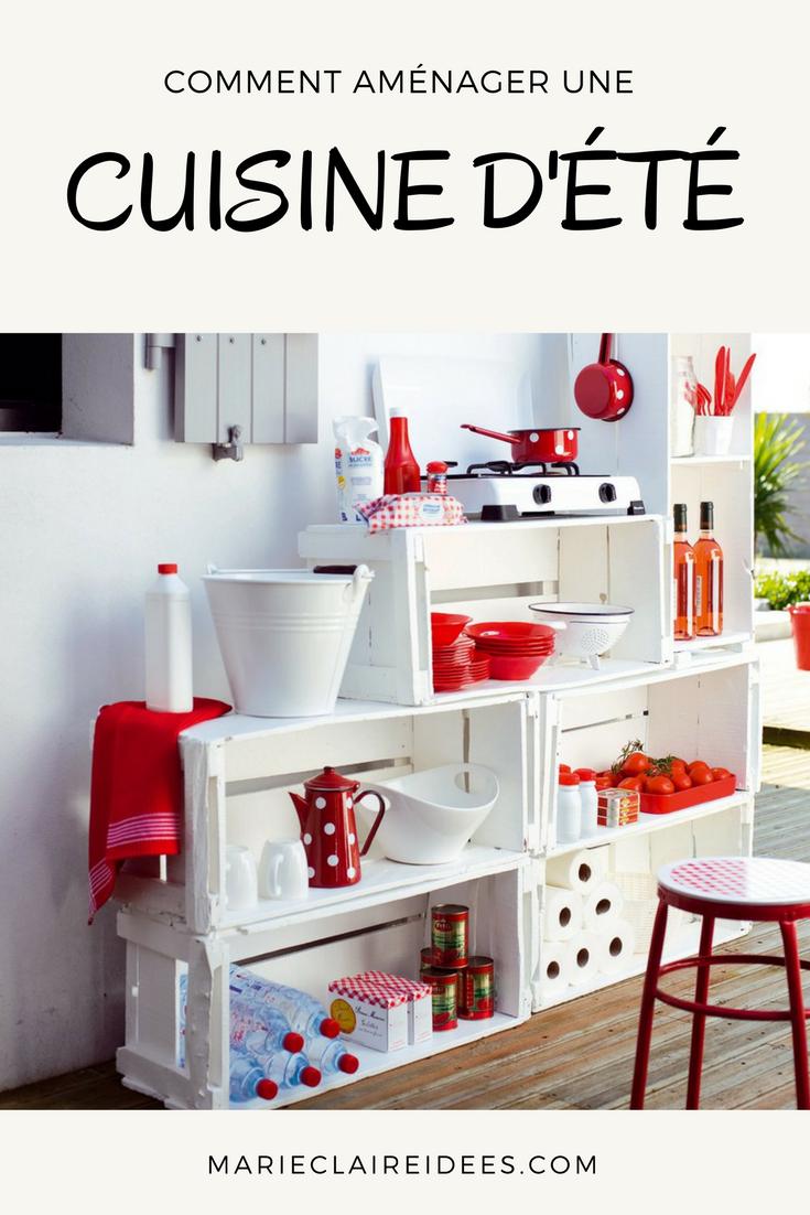 Récup caisses en bois : une cuisine DIY pour la terrasse  Meubles