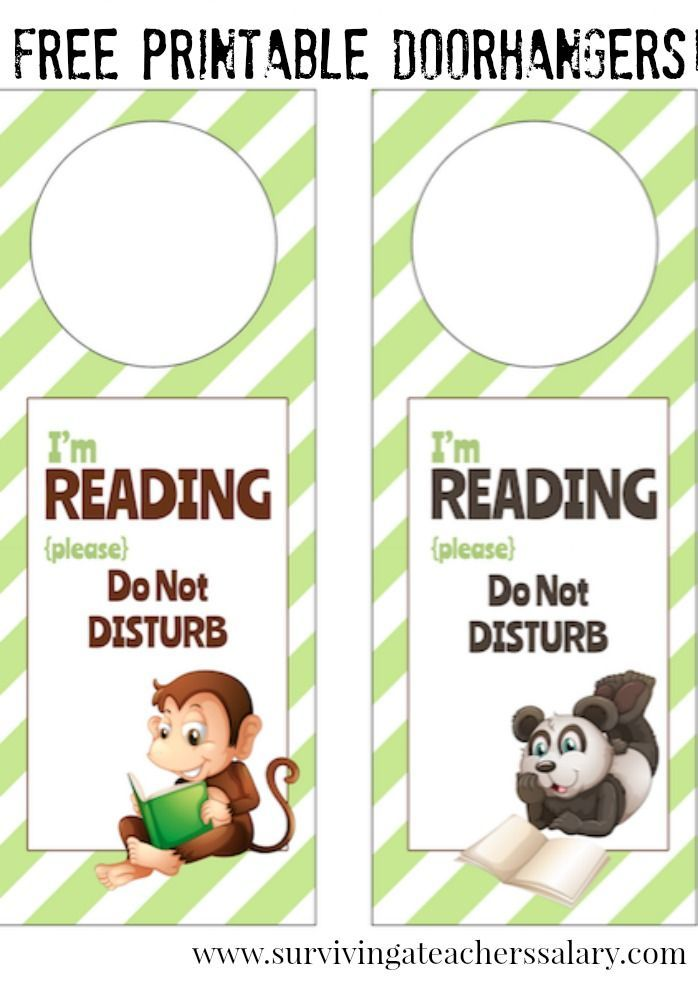 IM Reading Printable Door Hanger For Book Nooks  Book Nooks