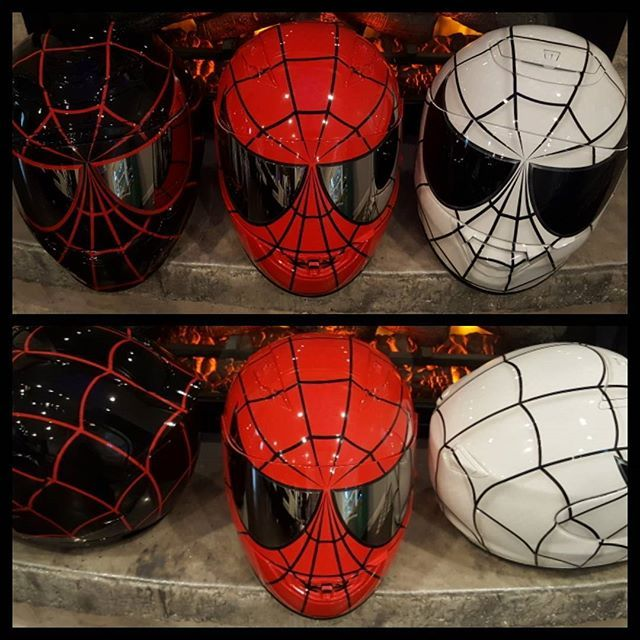 Spidermania at airgraffix.com today. Limited slots available for delivery by Christmas. #airgraffix #customhelmets #spidermanhelmet #spiderman #customhelmet