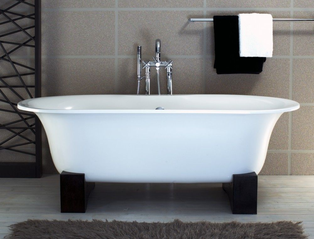 Asia Freestanding Bathtub With Black Resin Cradles Bt25 1000x763 Free Standing Bath Tub Free Standing Tub Bathtub