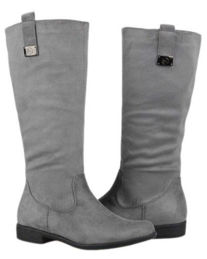 Kozaki Oficerki Szare Sergio Leone 0901 03 36 6995100813 Oficjalne Archiwum Allegro Boots Rubber Rain Boots Rain Boots