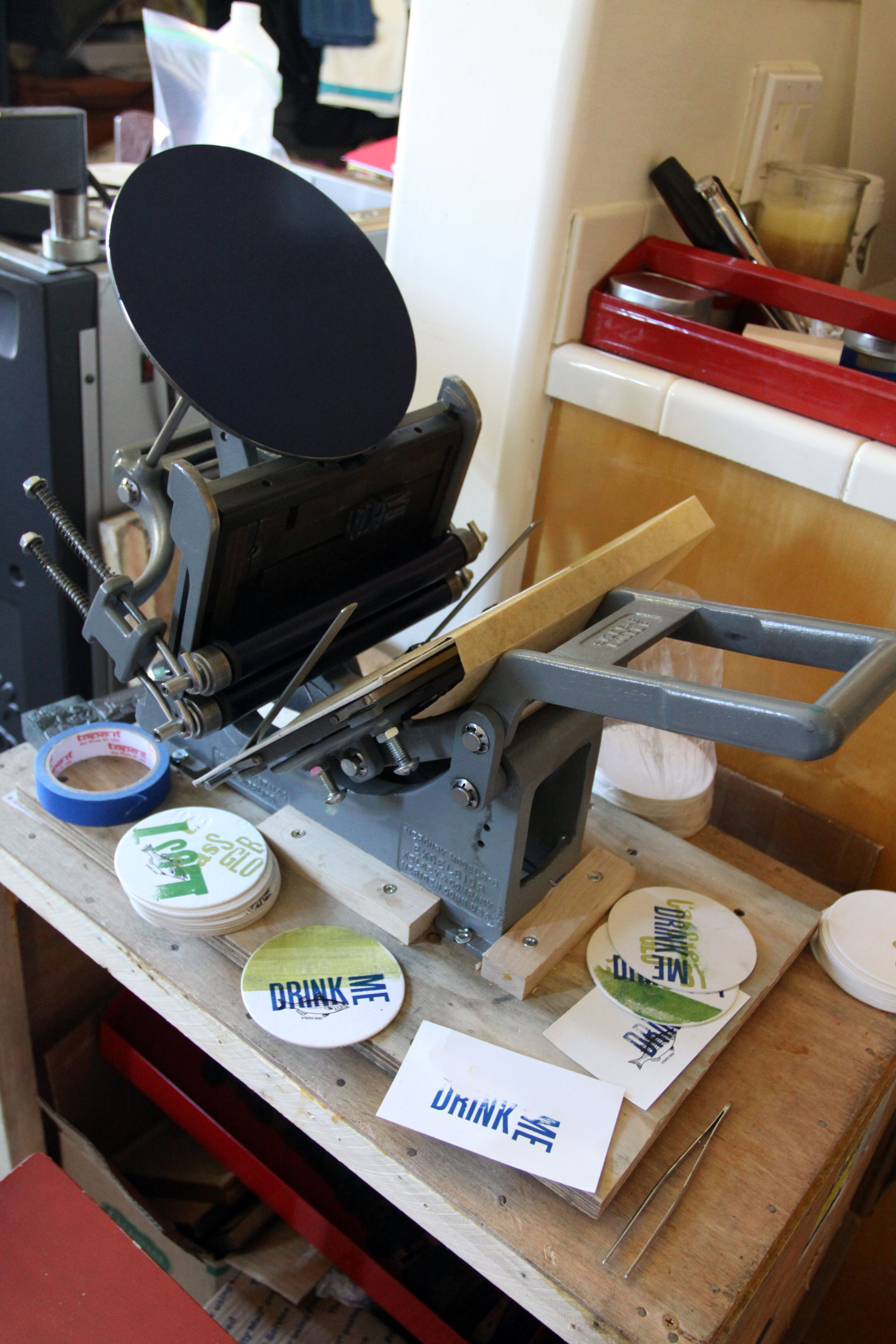 Tabletop Kelsey letterpress machine | Letterpress machine ...