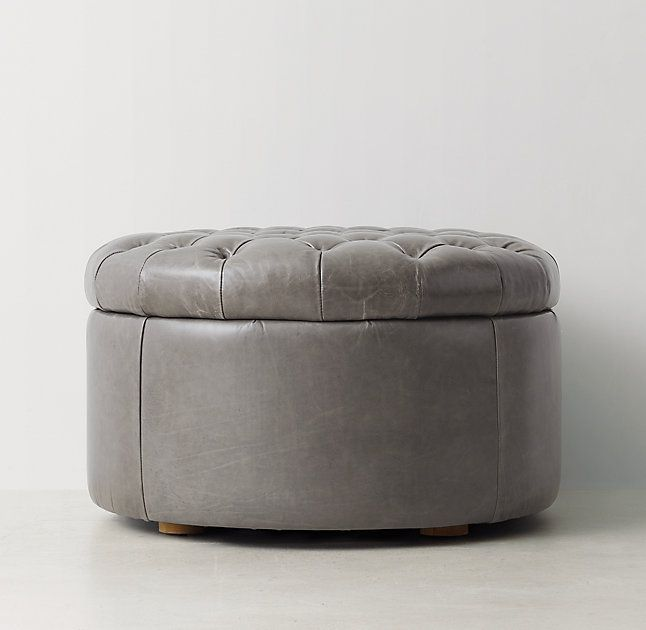 Berkshire Bone Could Look Pretty Tufted Round Leather Storage Ottoman