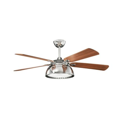 Kichler lighting modern ceiling fan with light with white glass in polished nickel finish 300142pn