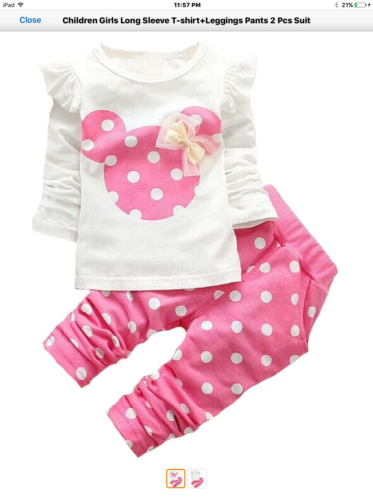 Kids Baby Girls Tracksuit Minnie Mouse Sweatshirt Tops+Pants Set Outfits Clothes