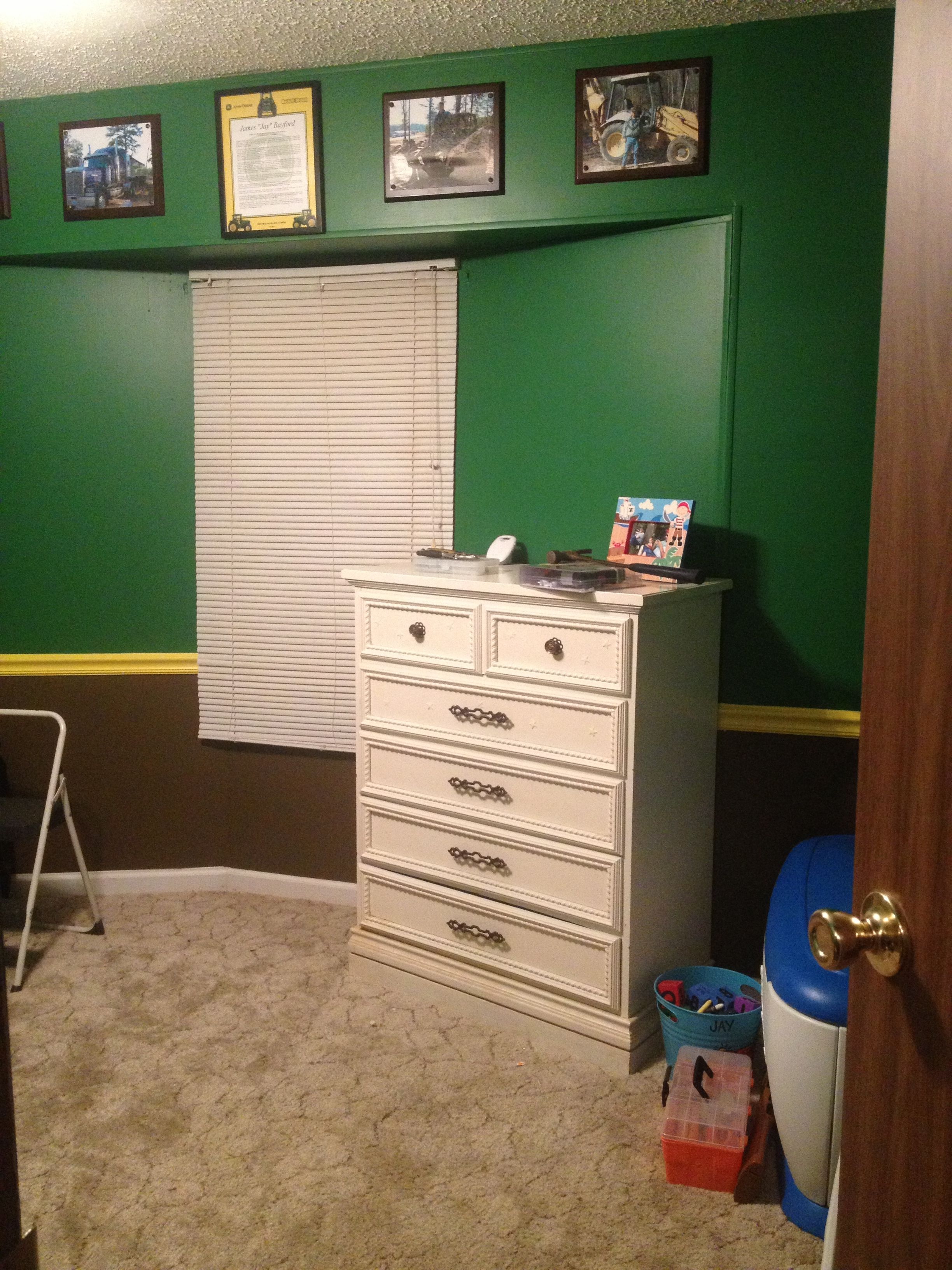 Another View Of My Sonu0027s John Deere Bedroom That My Husband Painted!!