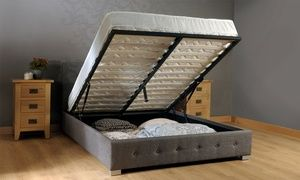 Wondrous Groupon Fabric Ottoman Storage Bed Frame From 154 99 Lamtechconsult Wood Chair Design Ideas Lamtechconsultcom