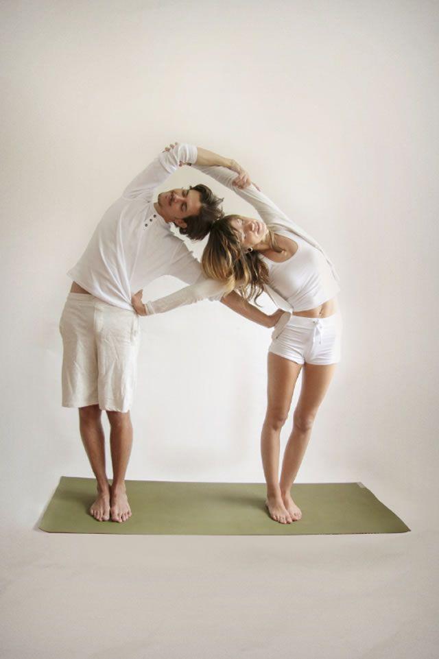Partner Yoga Double Sided Bend Pose