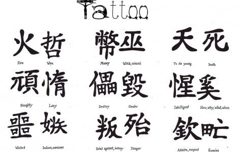 Chinese Symbol Tattoos And Meanings Girl Scout Swaps Pinterest