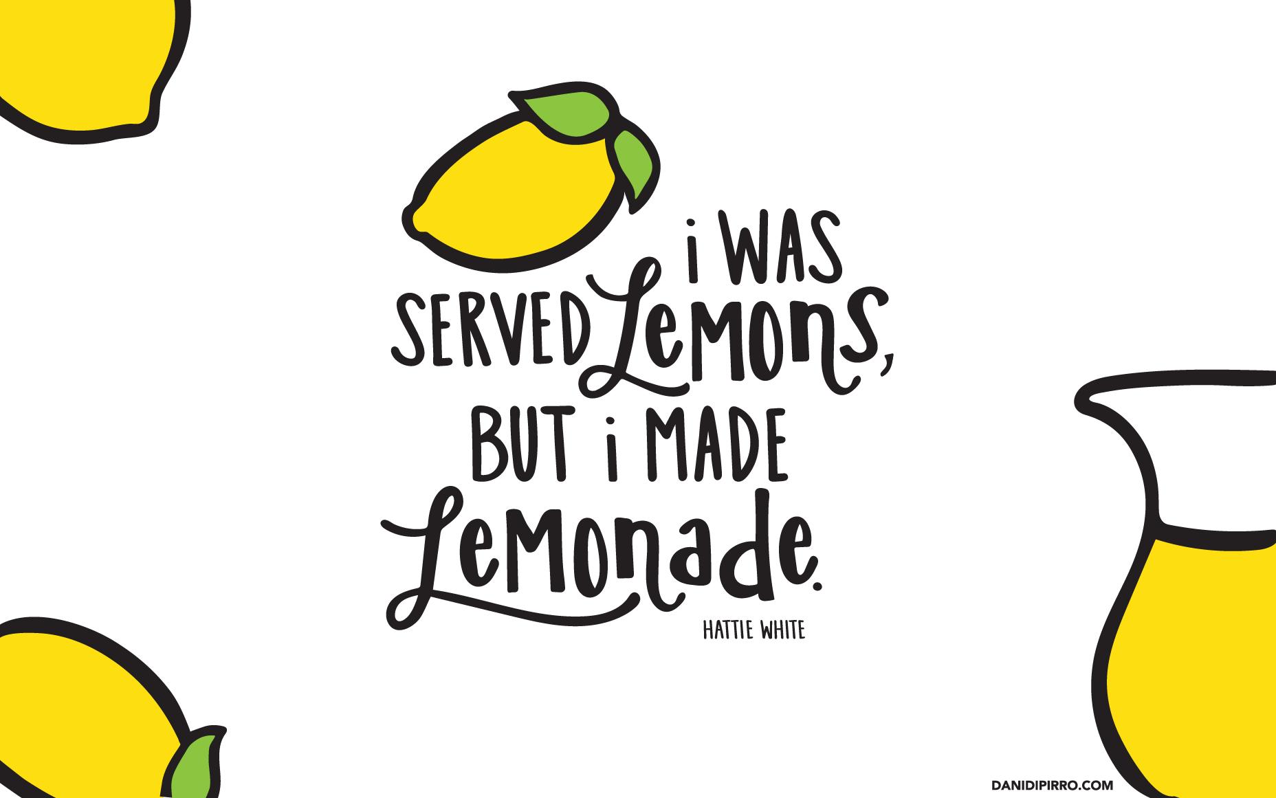 FREE Lemonade Desktop Background! Designed by Dani for DaniDiPirro.com