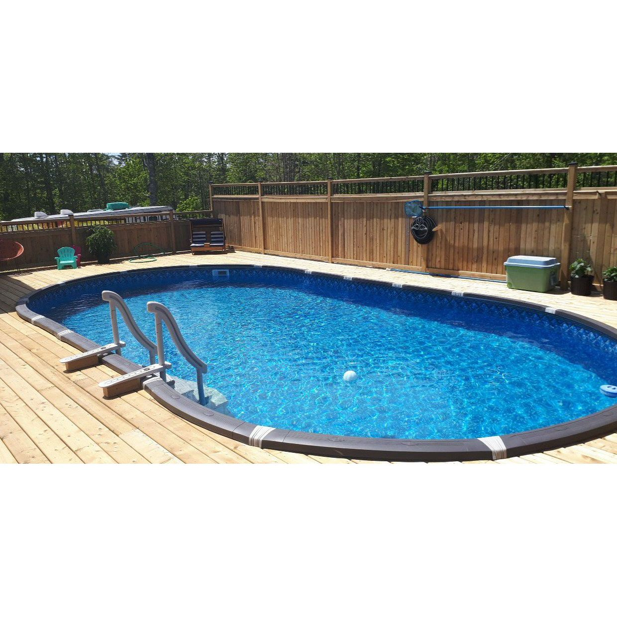 Element 15 X 30 Ft Oval Above Ground Pool With Liner And Skimmer